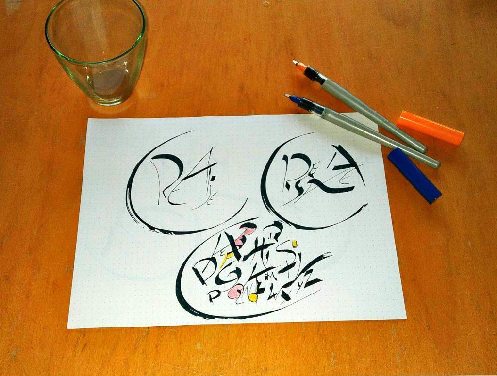 expressieve kalligrafie, kalligrafisch schrijfcafé,